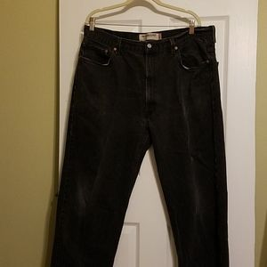 Levi's relaxed fit 550 black jeans